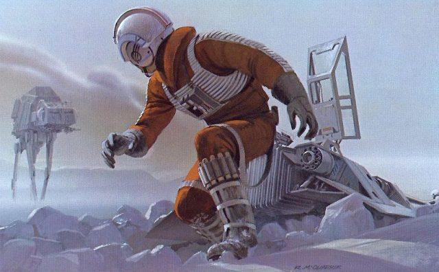 Ralph Mc Quarrie-visualización del Planeta Hoth