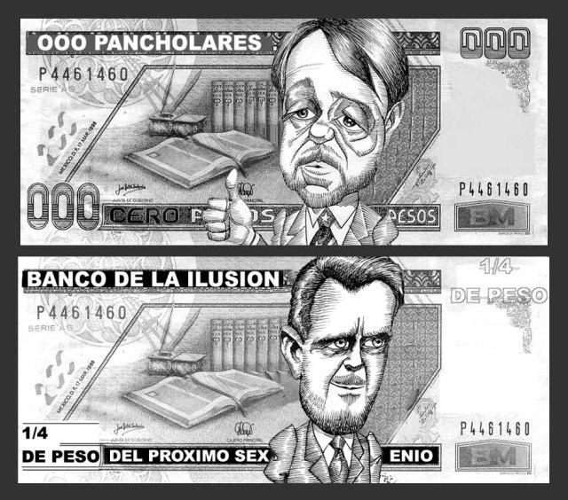 Billetes-Castañeda y Creel-@rickamacho