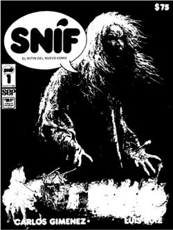 "Otra portada de ""Snif"". Dibujo Luis García de España."